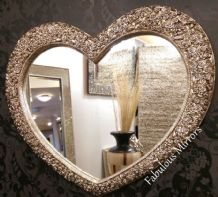 X Large Rose Heart Stunning Ornate Elegant Mirror Save ££s *NEW*